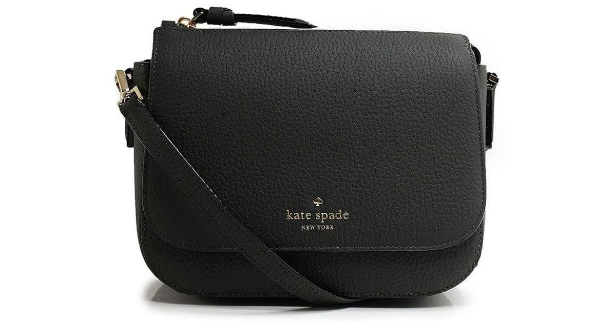 46676c7777 Kate Spade Leather Bari Crossbody Bag in Black - Lyst