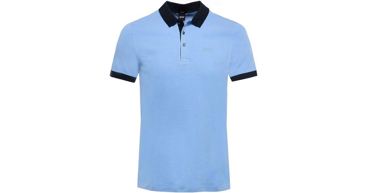 e26f71de3 BOSS Hugo Phillipson 26 Short Sleeve Polo Blue in Blue for Men - Lyst