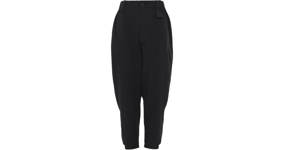 5c0acc4cf29d Lyst - Moyuru Cropped Easy Trousers in Black