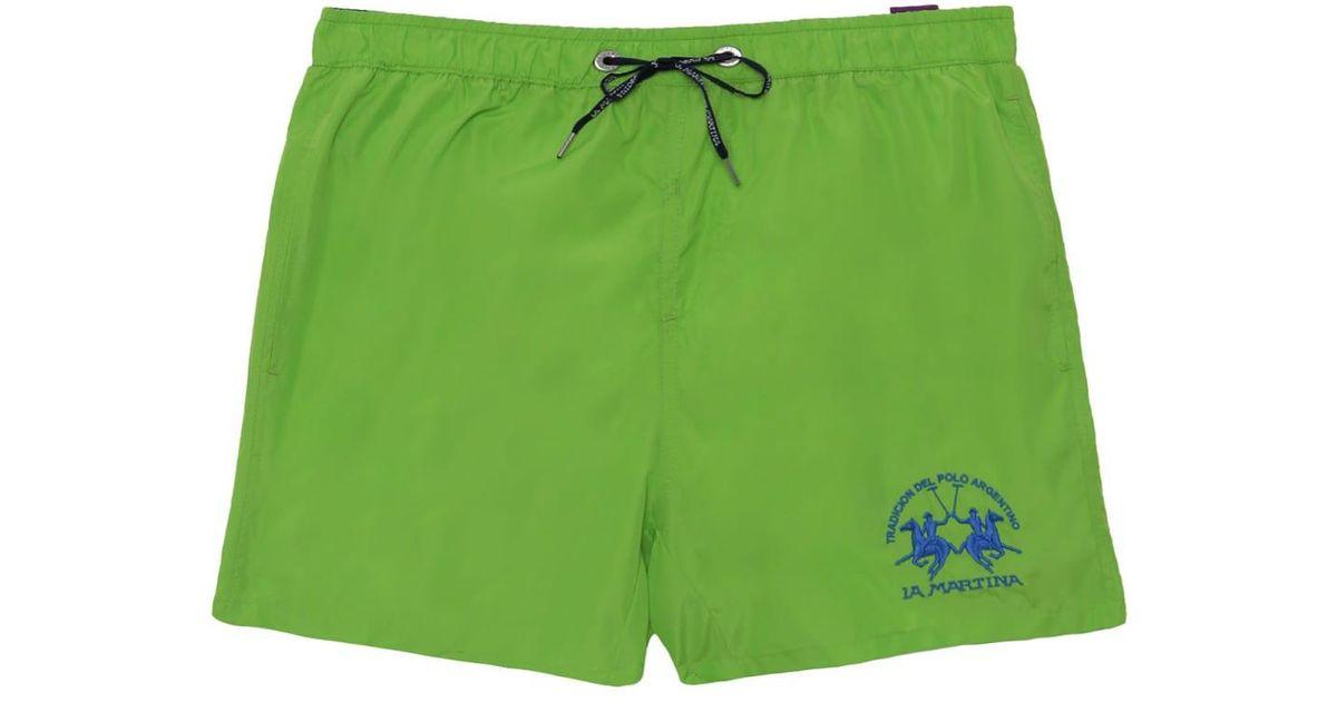 b309309277 La Martina Clint Swim Shorts in Green for Men - Lyst
