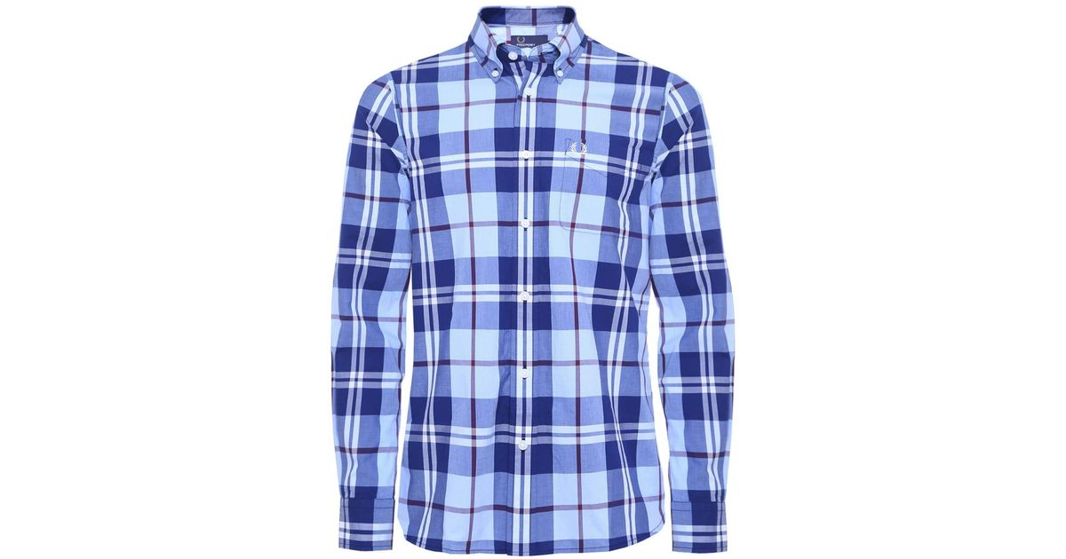 a12a8880b Fred Perry Bold Check Shirt in Blue for Men - Lyst