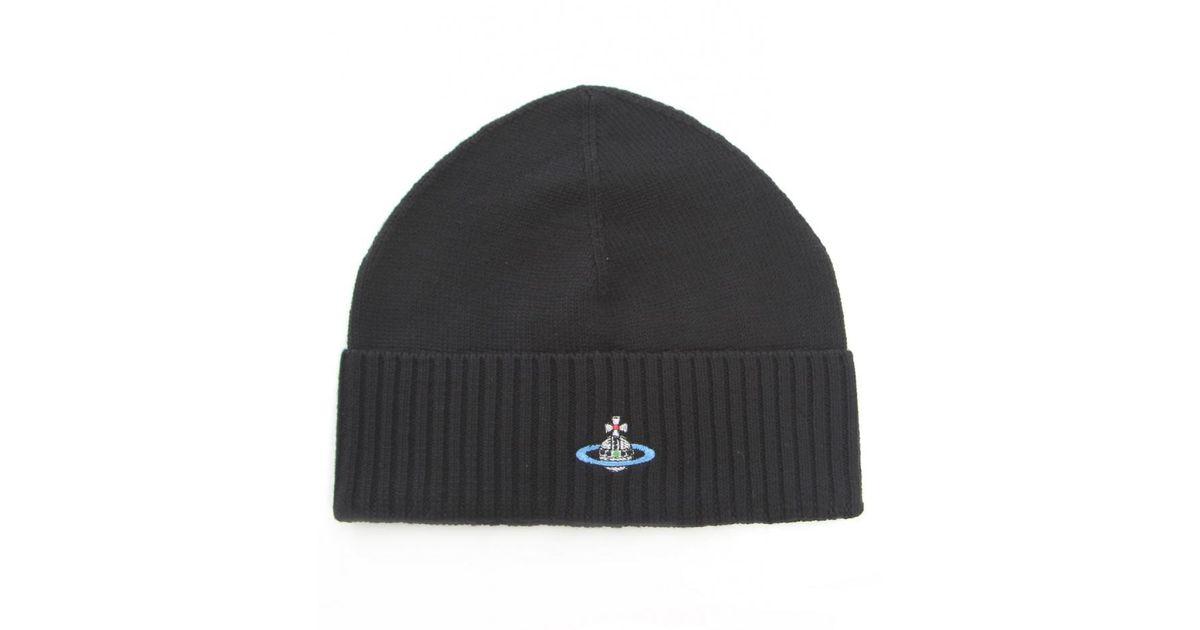 Vivienne Westwood Orb Beanie Hat in Black for Men - Lyst 017f59604901