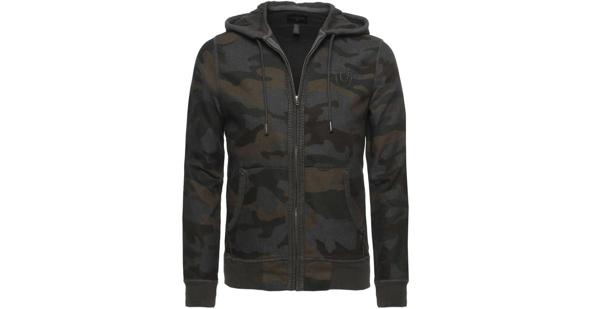 8cd625aec True Religion Zip Camo Hoodie in Natural for Men - Lyst