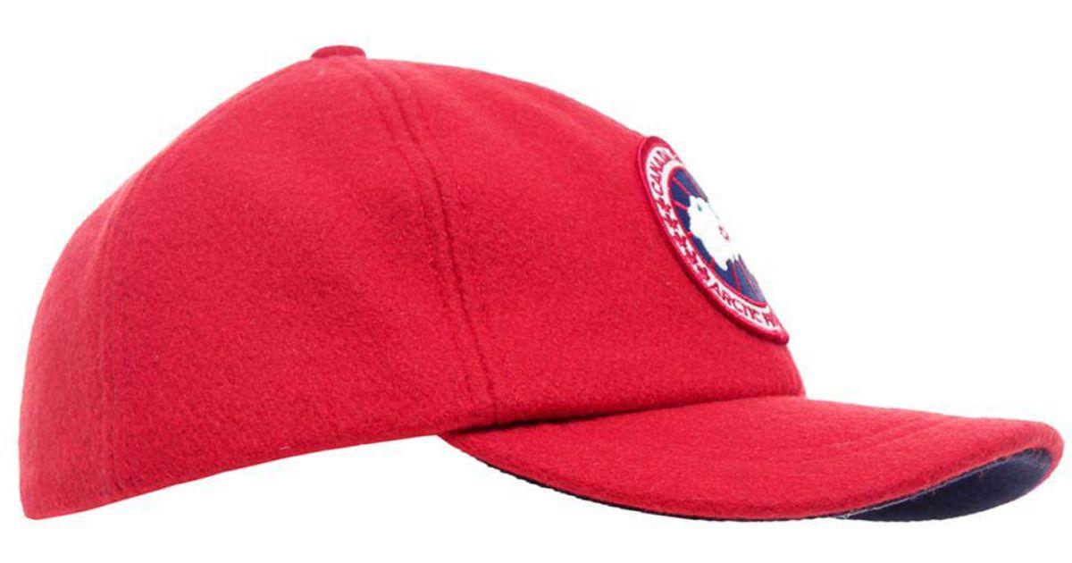 8f7f10c8c78 Canada Goose Merino Wool Cap in Red for Men - Lyst