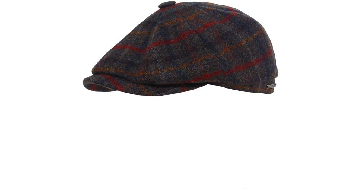 5bc5b471c41 Lyst - Stetson Hatteras Checked Wool Cap for Men
