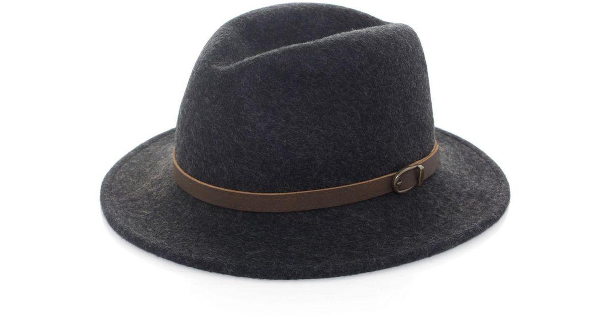 1c74cbfdfb0e8 Olney Safari Flex Felt Hat in Gray for Men - Lyst