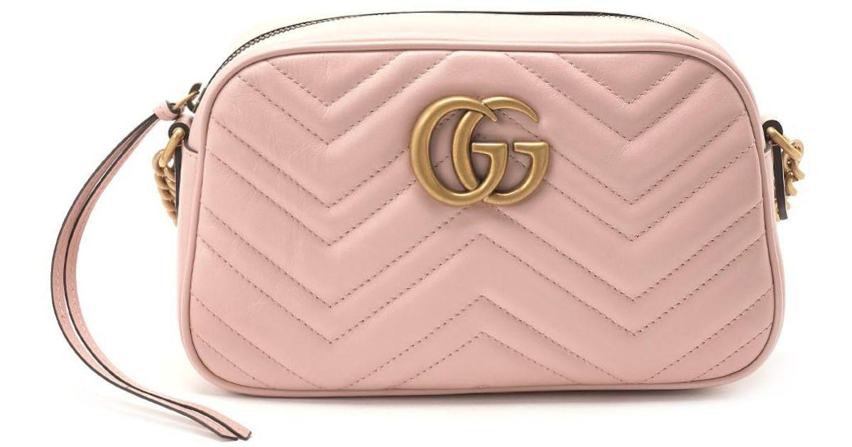 c0756836ed86cb Gucci 'gg Marmont 2.0 Camera' Crossbody Bag in Pink - Lyst