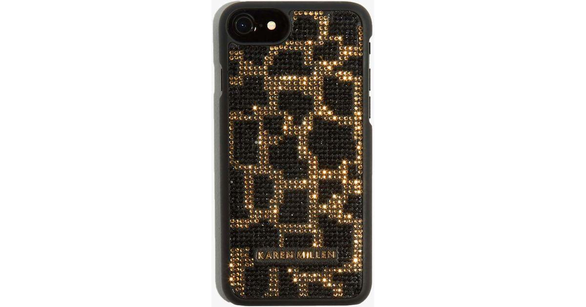e3e720d5c85b Lyst - Karen Millen Embellished Phone Case in Black