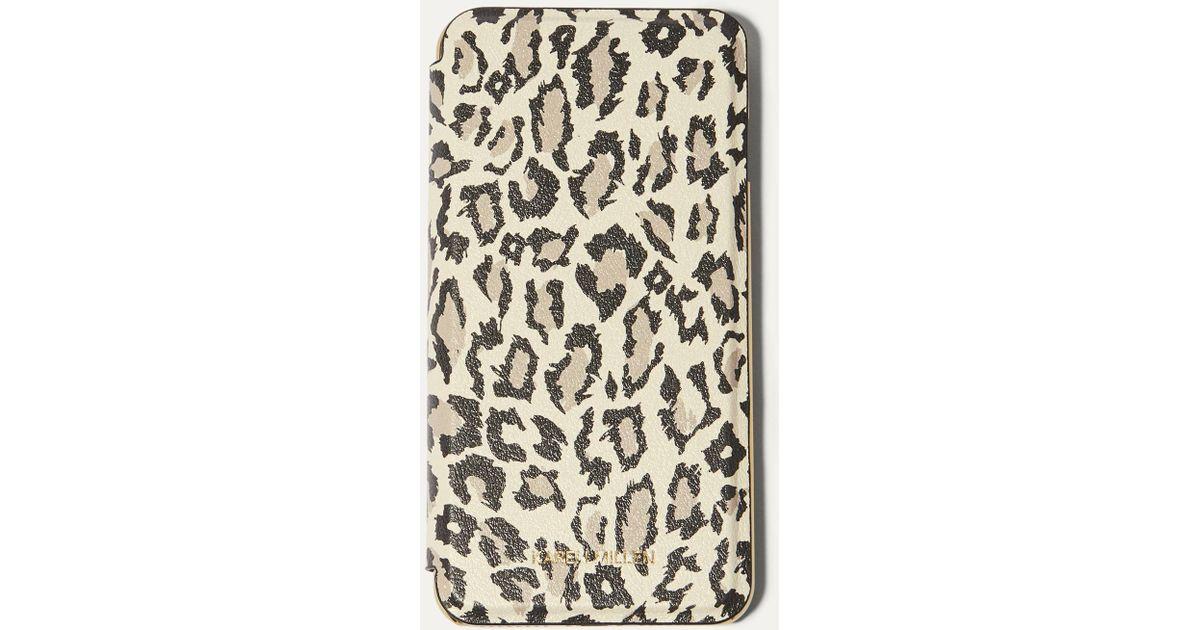 0c5edbfede15 Lyst - Karen Millen Leopard Iphone Plus Folio Case