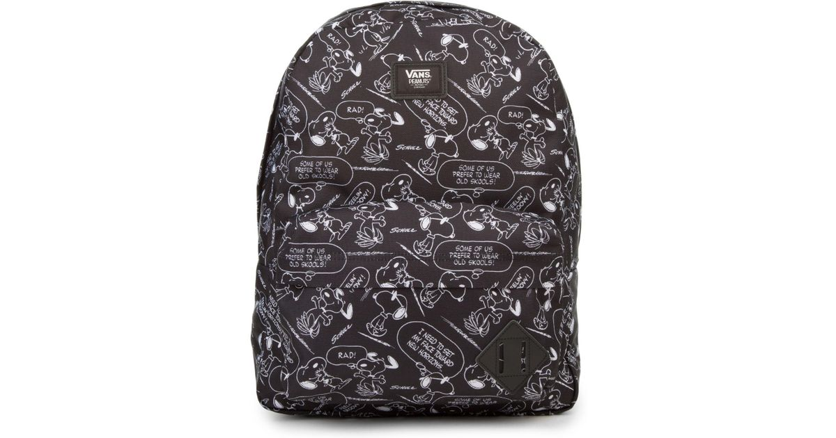 Lyst - Vans The X Peanuts Snoopy Old Skool Ii Backpack In Black And White  in Black