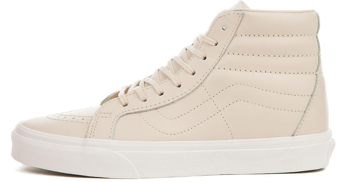 Lyst - Vans The Women s Sk8-hi Reissue Dx Leather In Whisper Pink And Gold  in Pink 3489dca47865