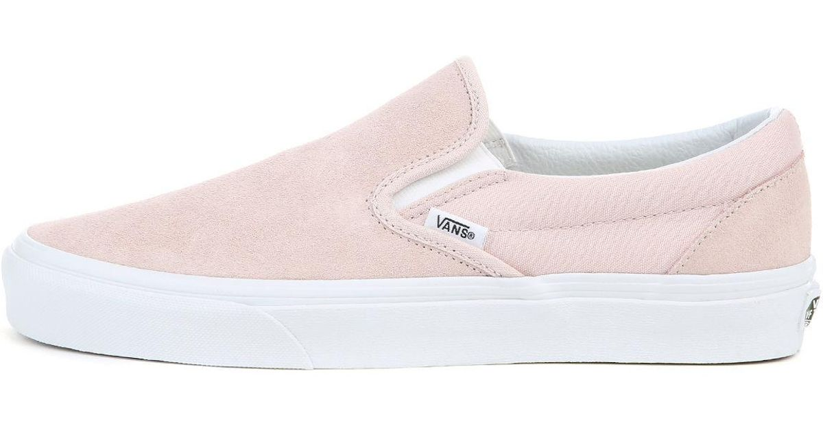 d9b75bcefeb19e Lyst - Vans The Unisex Ua Classic Slip-on In (suede) Sepia Rose in Pink