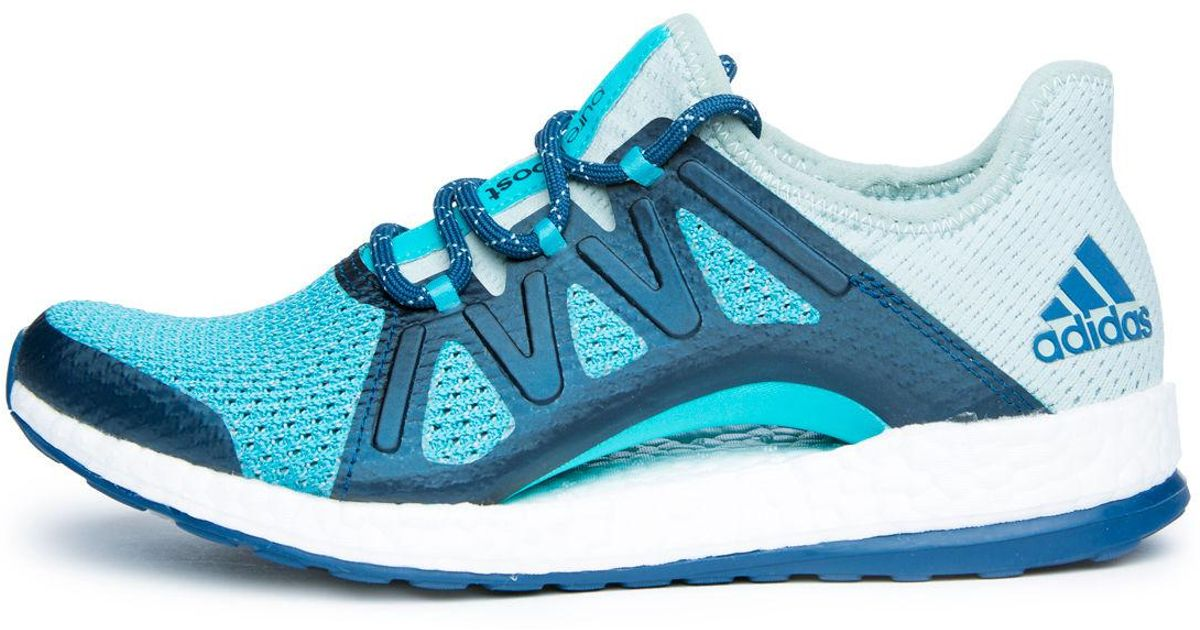 8e38a2f573e22 Lyst - adidas The Women s Pureboost Xpose In Tactile Green  Energy Blue And Blue  Night in Green