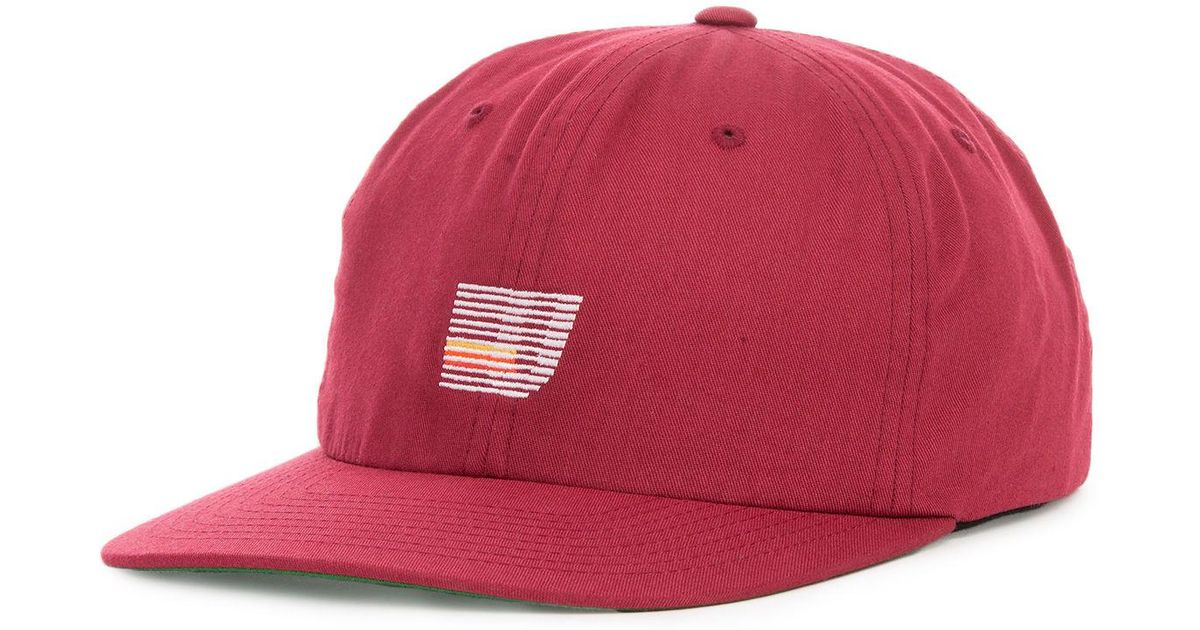 66d250fd56d Lyst - Undefeated The Speed Stripe Strapback Hat in Red for Men