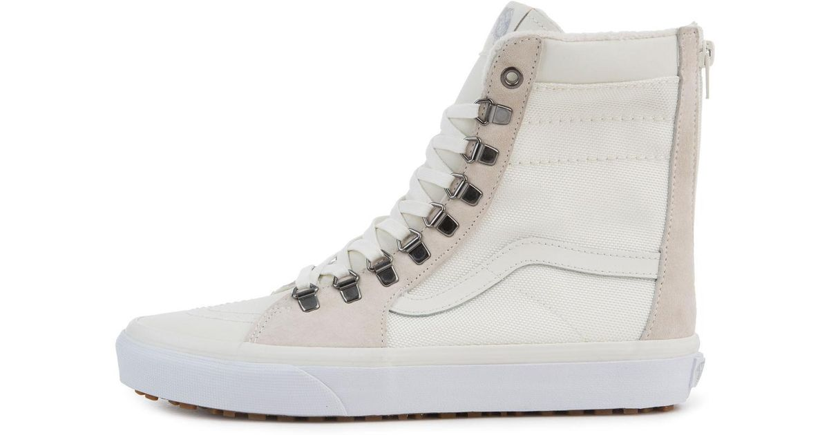 416e0685284a5c Lyst - Vans The Women s Ballistic Mix Super Sk8-hi Zip Mte in White