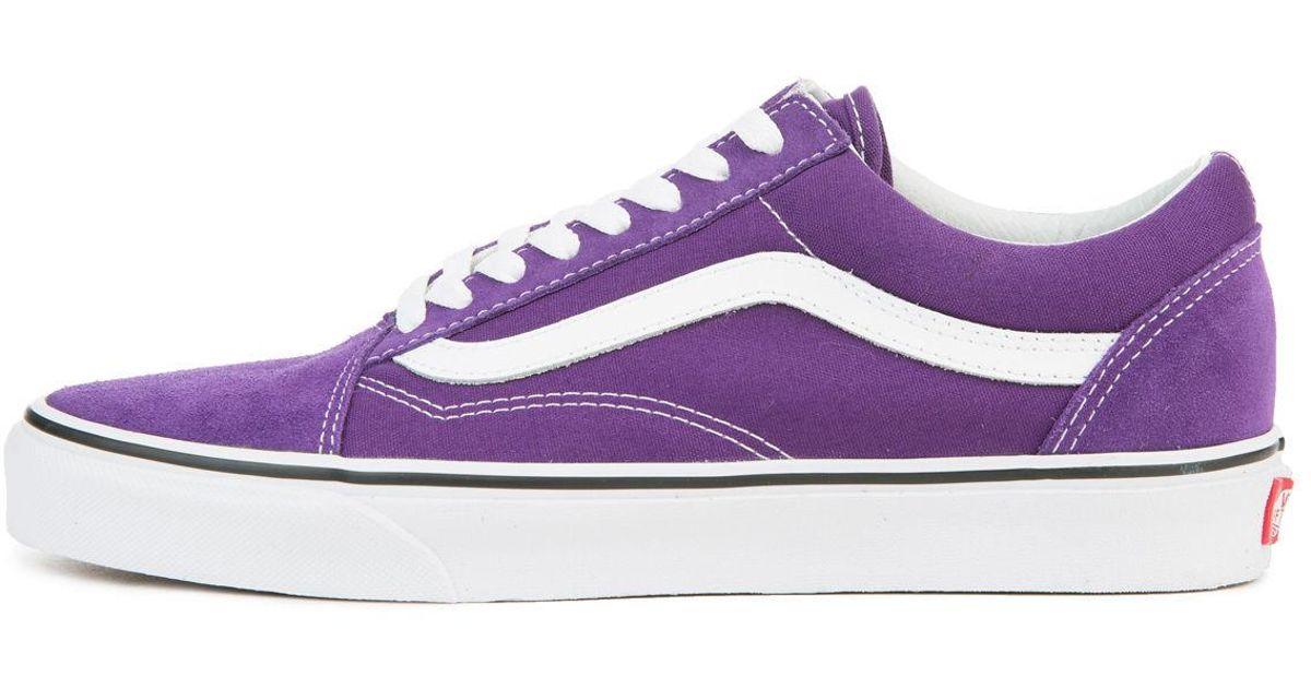 Lyst - Vans The Men s Old Skool In Petunia And True White in Purple for Men 999d8de53