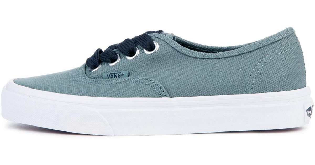 3bc75bdd246420 Lyst - Vans The Women s Oversized Lace Authentic In Silver Pine And True  White in Blue
