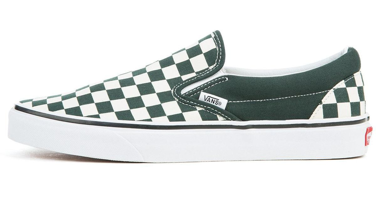 196511dec23 Lyst - Vans The Unisex Classic Slip-on In Scarab And White Checkerboard in  Green for Men