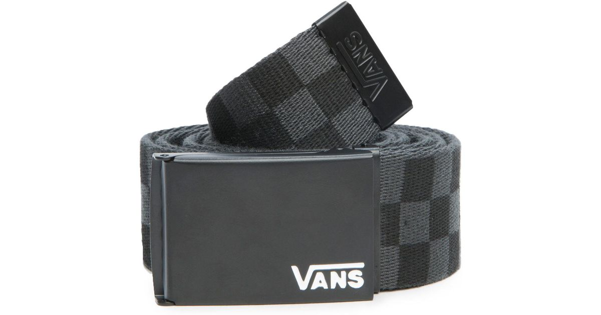 8eb1b7033067 Lyst - Vans The Deppster Ii Web Belt In Black And Charcoal in Black for Men