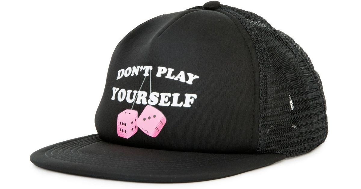 887fb7164be Lyst - 10.deep The Don t Play Yourself Trucker Hat In Black in Black for Men