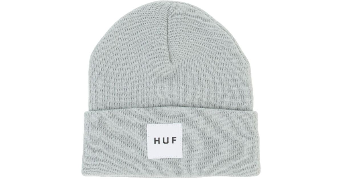 b10f5f98535 Lyst - Huf The Box Logo Beanie in Gray for Men