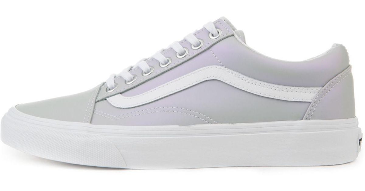 95538edc3db081 Lyst - Vans The Women s Old Skool Muted Metallic In Gray And Violet in Gray