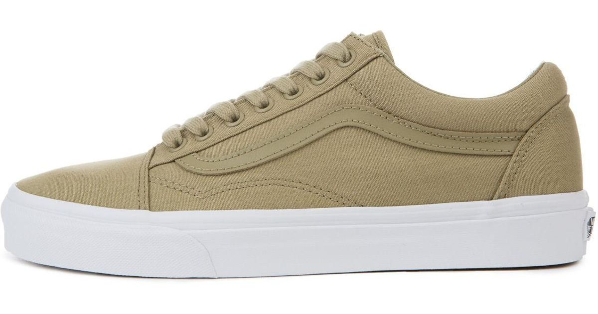 Lyst - Vans The Men s Old Skool In Boa Mono Canvas in Green for Men a27bbc74b
