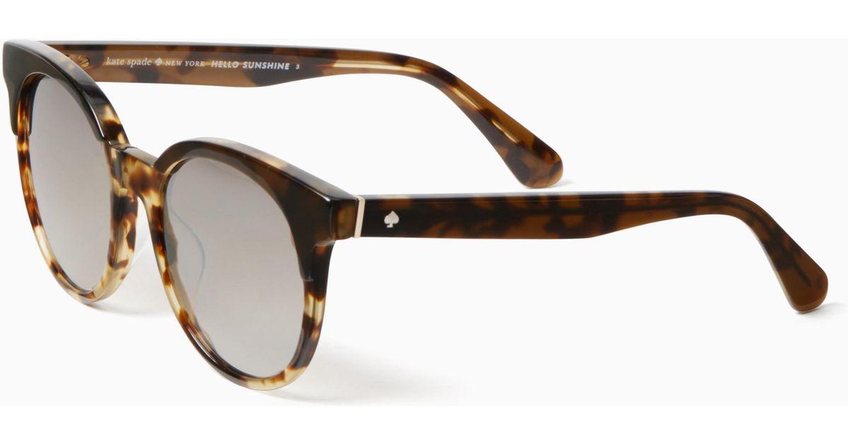 4ee8d0275a Kate Spade Abianne Sunglasses in Brown - Lyst