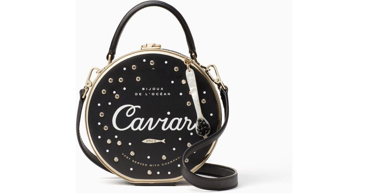 32608a881027 Kate Spade Finer Things Caviar Bag in Black - Lyst