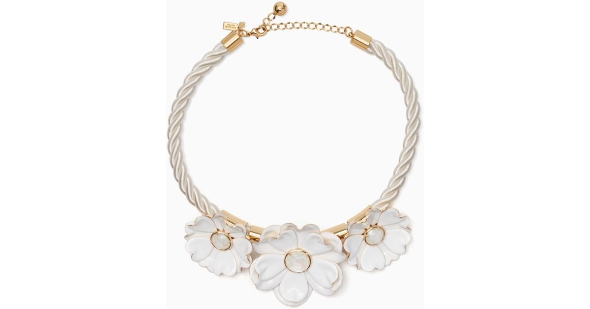 Lyst Kate Spade Bright Blossom Flower Statement Necklace In White