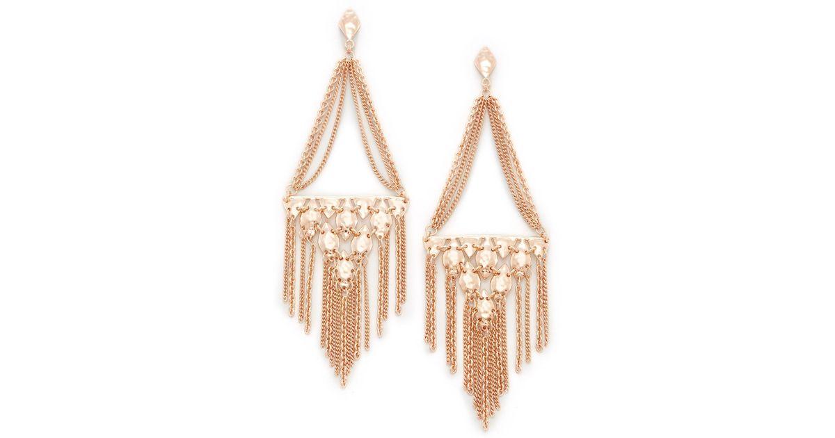 6a7d3e420 Lyst - Kendra Scott Mandy Statement Earrings in Metallic