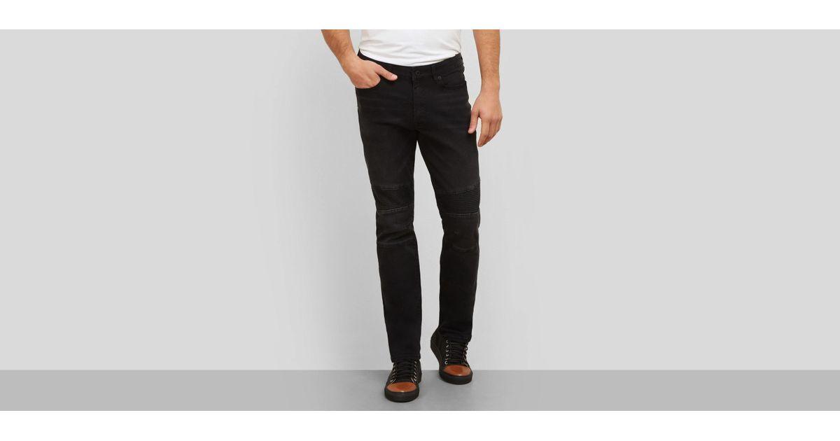 7b2bf795 Lyst - Kenneth Cole Reaction Slim-fit Moto Jean in Black for Men