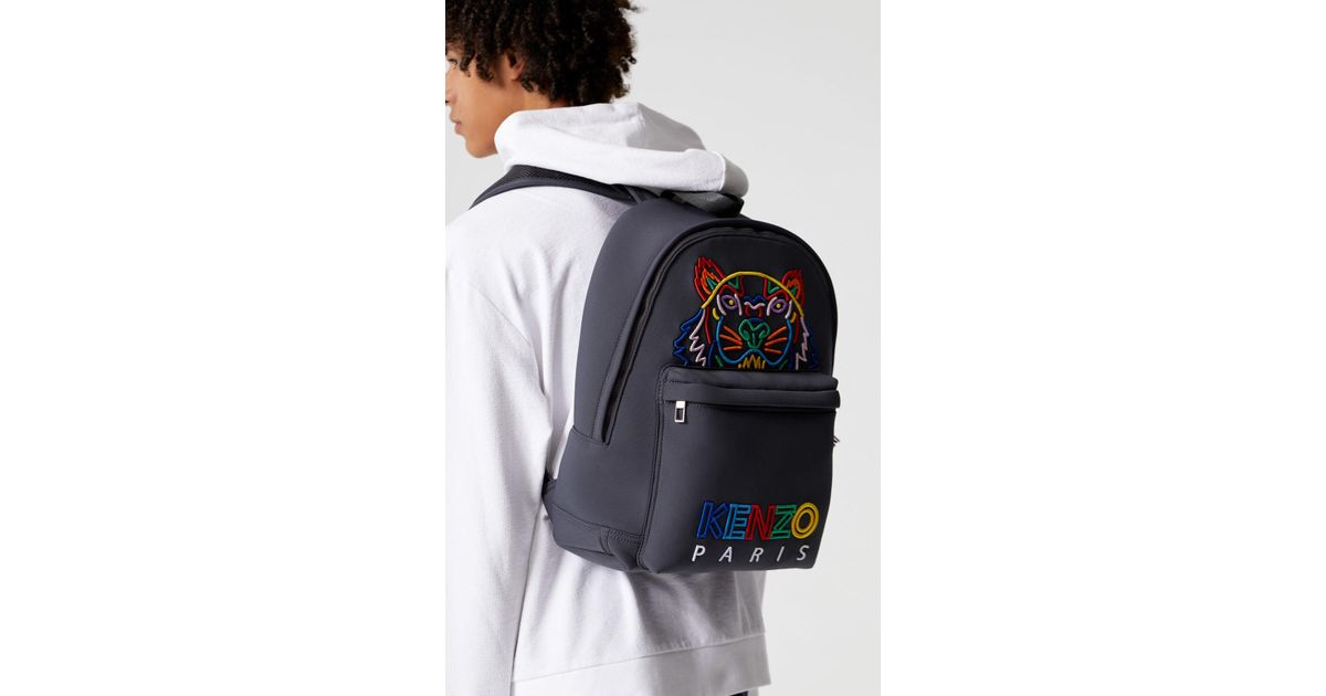 32ce9af998d KENZO 'high Summer Capsule Collection' Tiger Large Neoprene Backpack in  Blue - Lyst