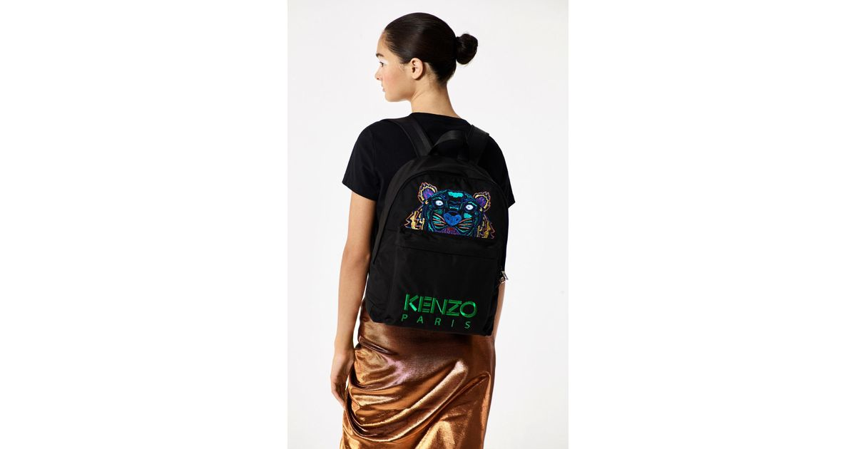 f1874e1fc6 Kenzo  holiday Capsule Collection  Tiger Backpack in Black - Lyst