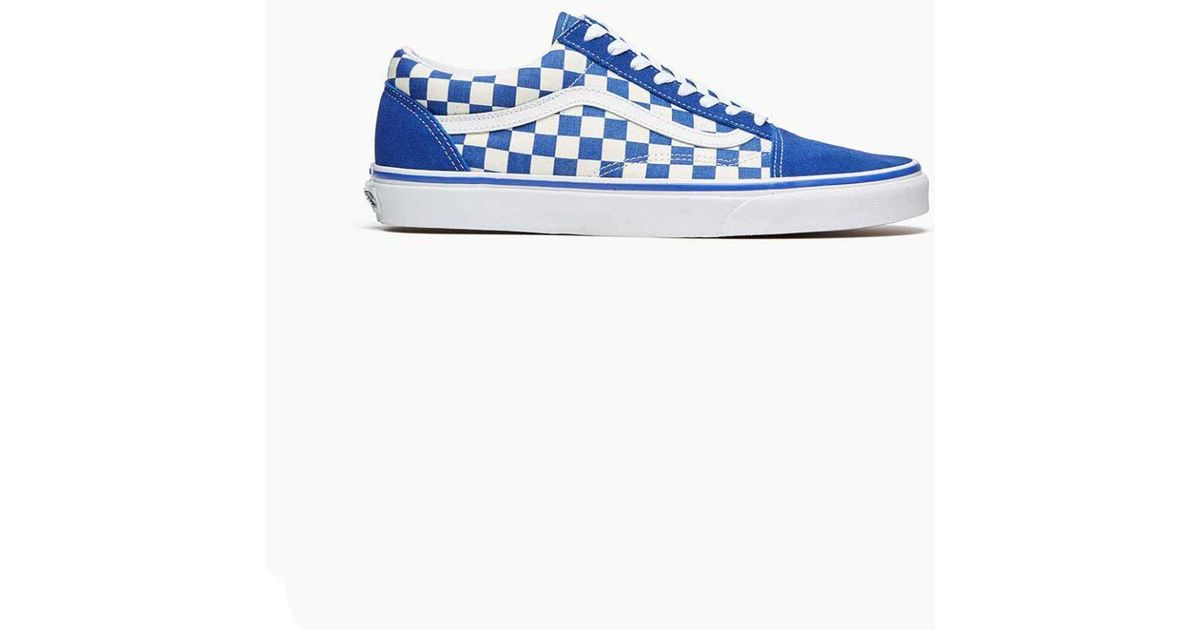 a7b3a2138a42 Lyst - Vans Vans Old Skool Blue  White Checkerboard in Blue for Men