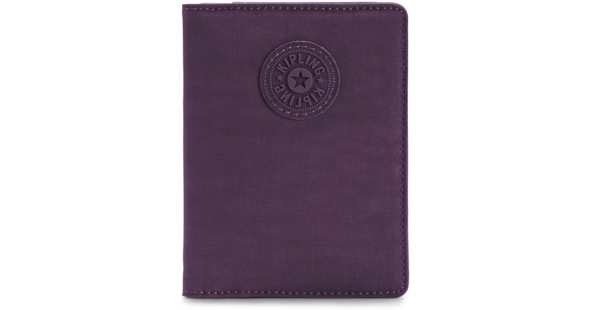 detailed look 40267 1abd1 Kipling - Purple Passport Holder - Lyst