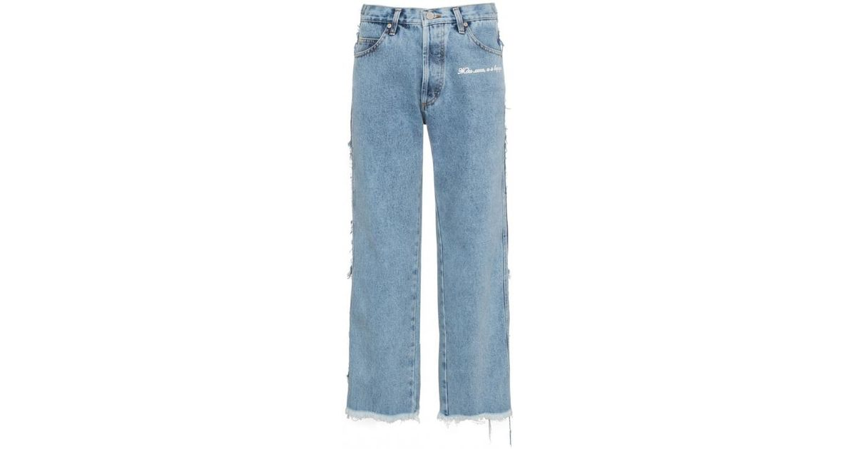 pierna Natasha desgastados mediana Zinko altura de Jeans de con recta qETWw8Cw
