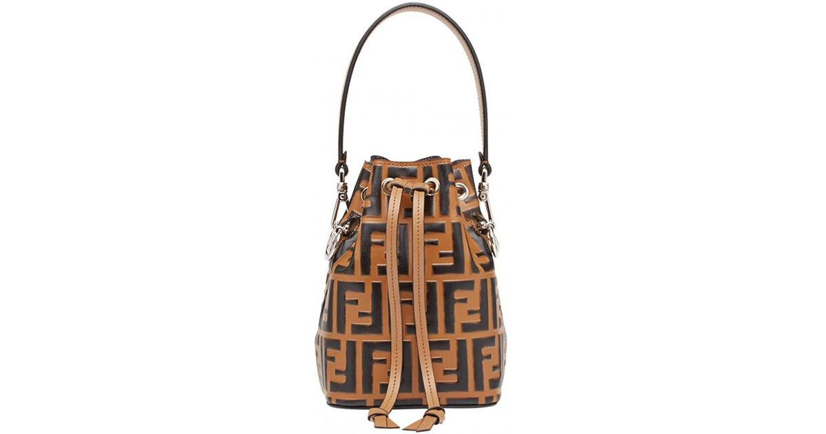 046cbd2c9230 Fendi Mon Trésor Mini Bucket Bag - Lyst