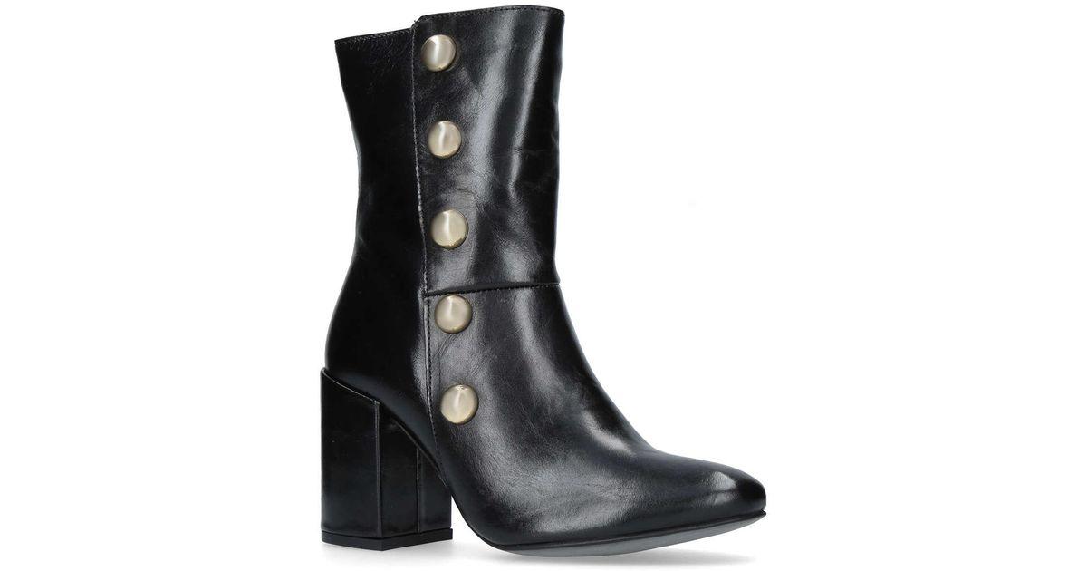 b5377ee38fac Carvela Kurt Geiger Black 'soldier' Ankle Boots in Black - Lyst