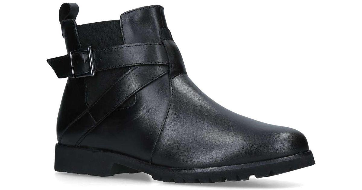 2cef2b199d25 Carvela Kurt Geiger Black  robbie  Low Heel Ankle Boots in Black - Save 25%  - Lyst
