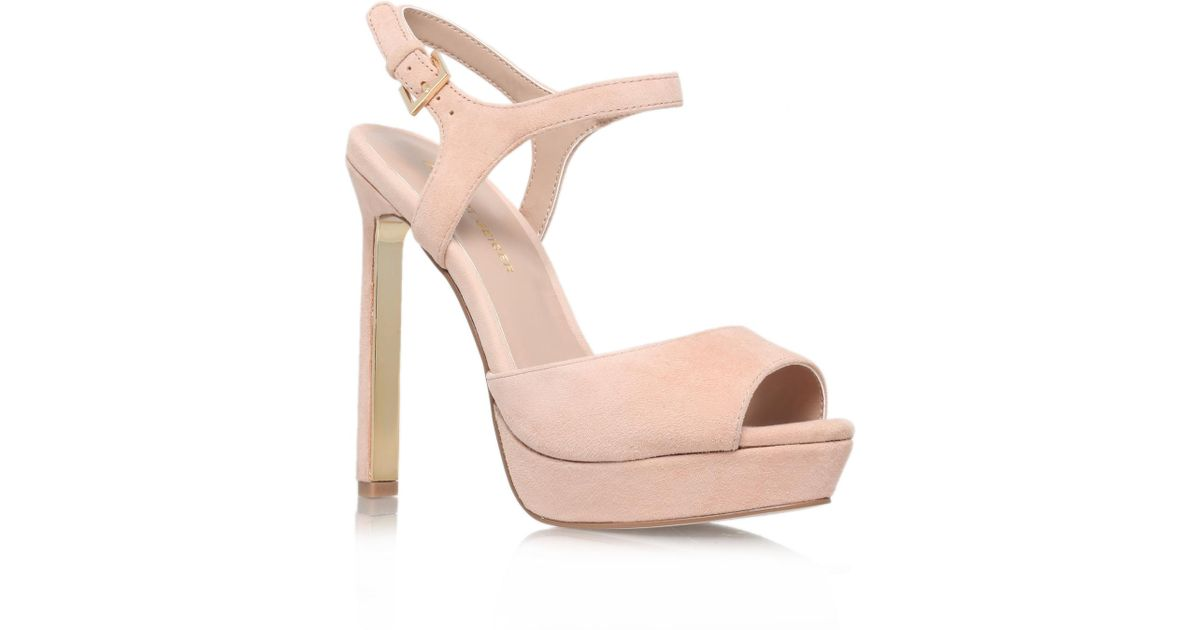 02122a8a4d50 Kg By Kurt Geiger Hazel In Nude in Natural - Lyst