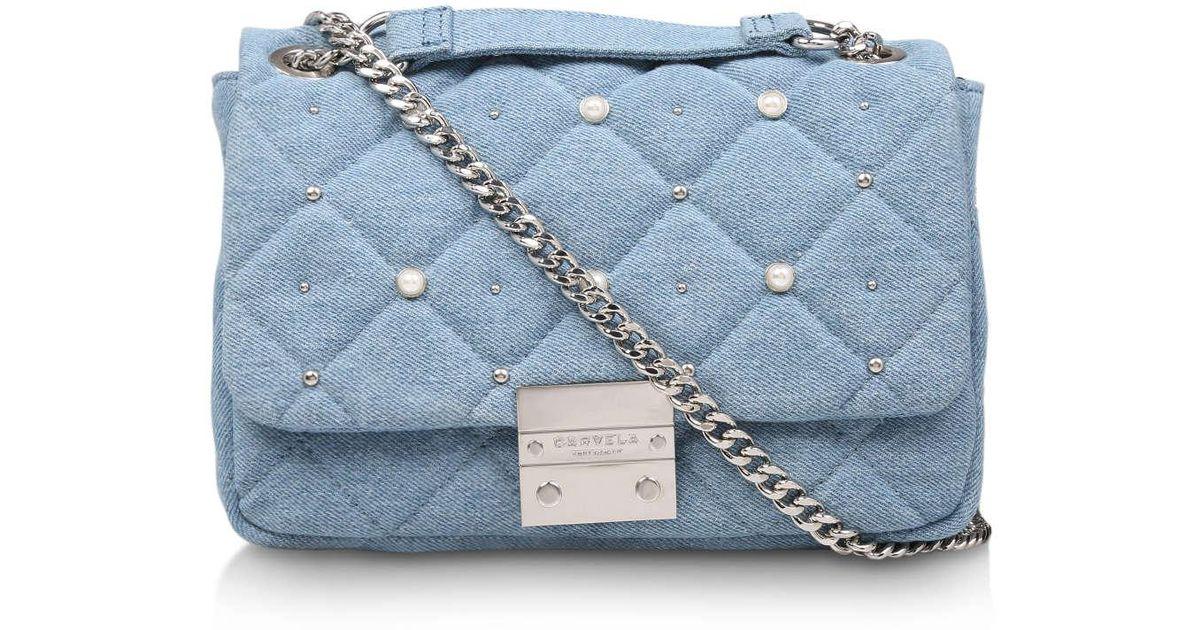 Carvela Kurt Geiger Sadie Denim Pearl Bag in Blue - Lyst