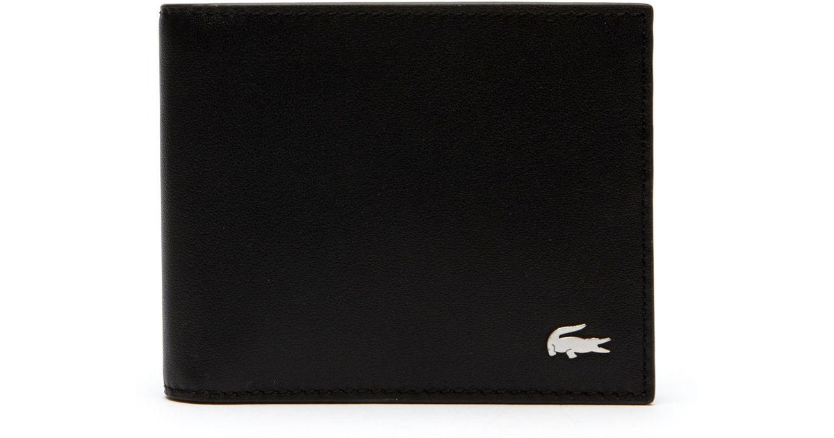 f1e5db4043fc Lyst - Lacoste Fitzgerald Colorblock Leather 6 Card Wallet in Black for Men  - Save 11%