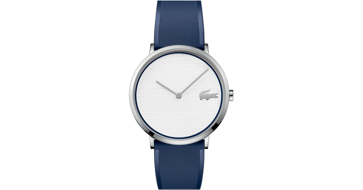 Lyst - Lacoste Moon Ultra Slim Watch Golf Capsule With Blue Silicone Strap in Blue for Men