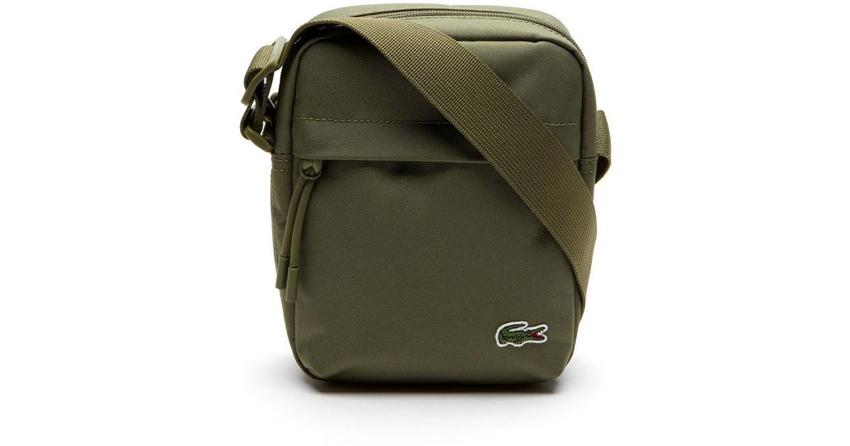 6c1dd377c Lyst - Lacoste Neocroc Canvas Vertical All-purpose Bag in Green for Men