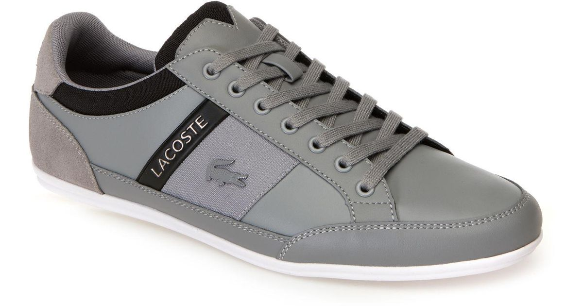 967b2ff4811f9 Lyst - Lacoste Chaymon Tonal Nappa Leather And Suede Trainers in Gray for  Men
