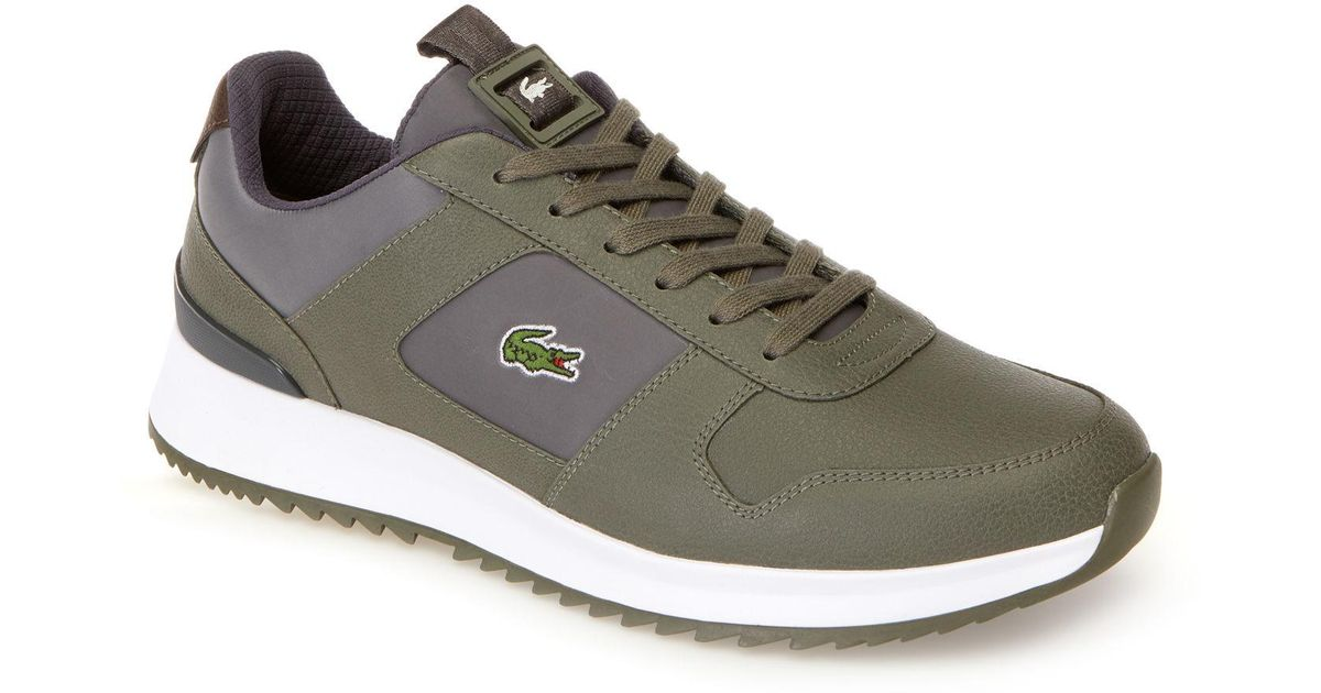 3529f1168 Lyst - Lacoste JOGGEUR 2.0 Leather Trainers in Gray for Men