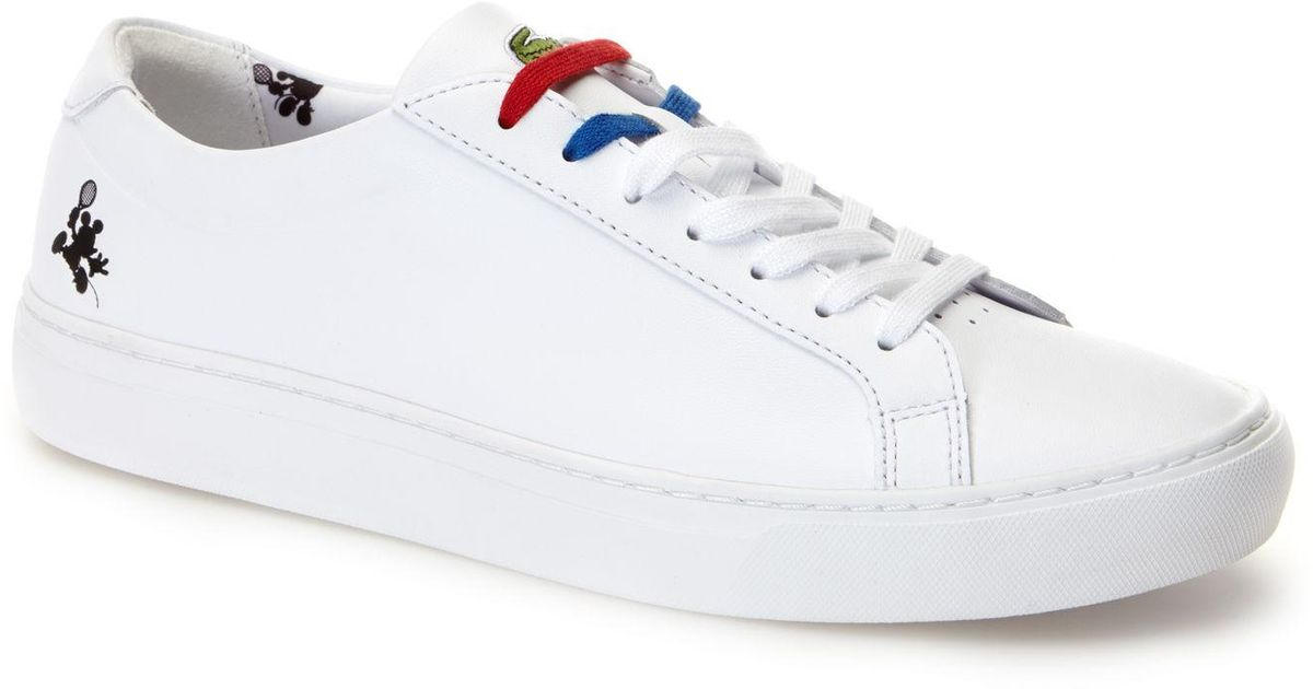 6186e0f08 Lyst - Lacoste L.12.12 Disney Holiday Collector Mickey Print Trainers in  White for Men