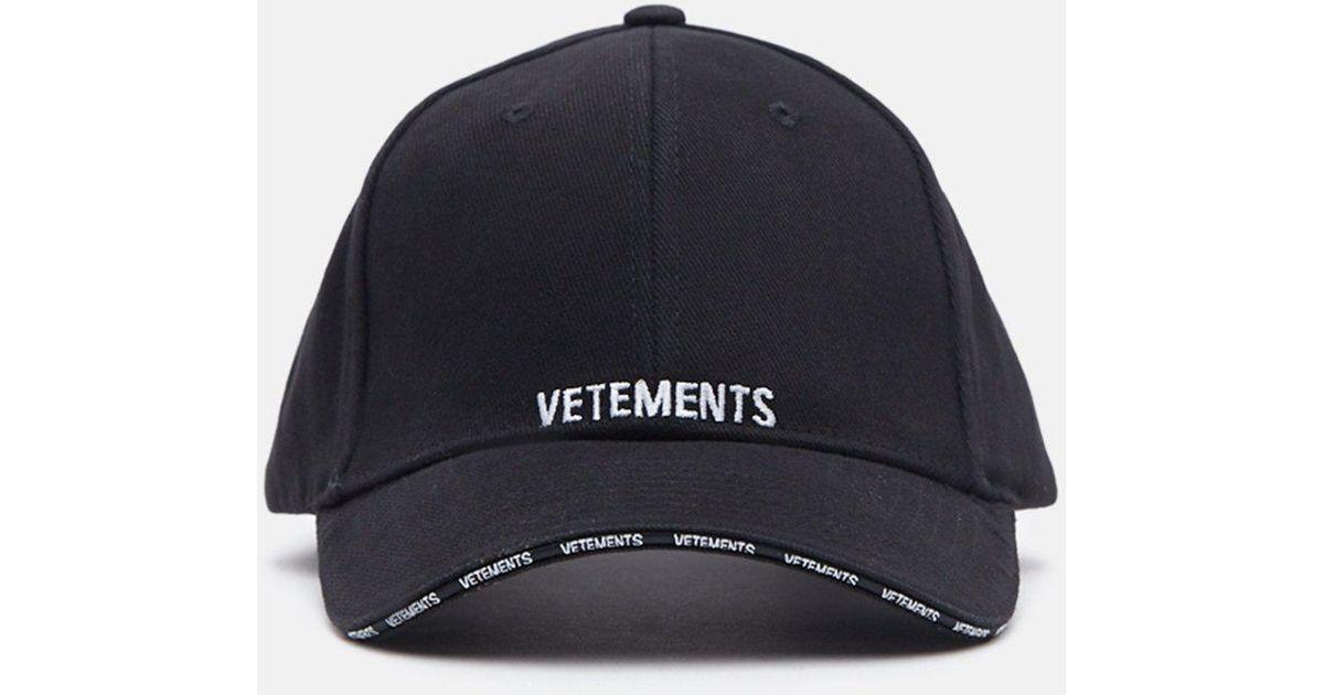 de8816f930d Lyst - Vetements Cap in Black for Men