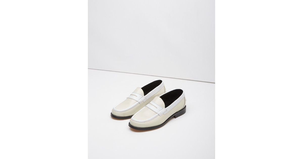 53b0f8567 JW Anderson Penny Loafer in White - Lyst